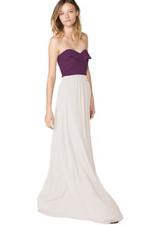 Strapless Sweetheart Chiffon Long Dress With Ruffles