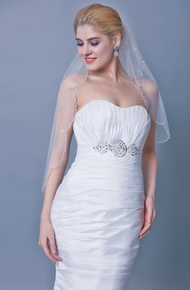 Scallop Edge Two Tier Beaded Veil