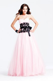 Sweetheart Black Lace Prom Dresses With 2016 Hot Bridalsmaid Pink Pleated Tulle Bow Ruffle Gown