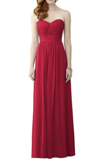 Ruched Sweetheart Long Bridesmaid Dress