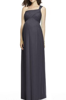 One Shoulder Maternity Ruched Chiffon Bridesmaid Dress