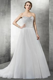 Sweetheart A-Line Organza Wedding Dress