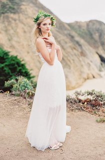A-Line Tulle Dress With Lace Bodice and Spaghetti Straps