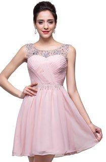 Elegant Sleeveless Crystal Short Homecoming Dress 2016 Chiffon