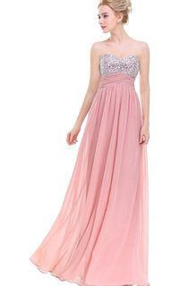 Sweetheart Empire Chiffon Dress with Ruches and Sequins