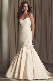 Taffeta Long Mermaid Dress With Lace Deatals