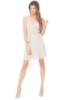 Charming A-Line Short V-Neck Dress With Ruffles