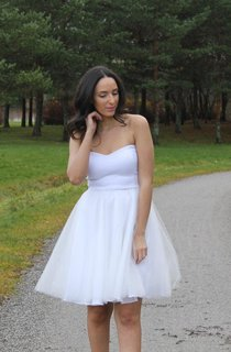 Sweetheart A-Line Short Tulle Dress With Pleated Skirt