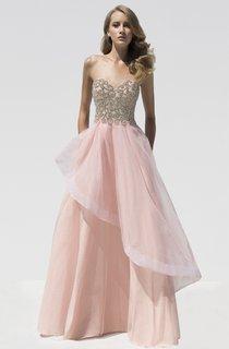 A-Line Floor-Length Sweetheart Sleeveless Beading Draping Backless Dress