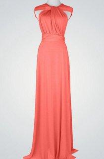Cap Sleeve A-line Jersey Long Dress With Criss Cross Back