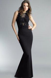 Mermaid Floor-length High Neck Sleeveless Satin Keyhole Dress