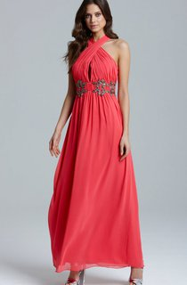 Gorgeous A-Line Chiffon Dress With Ruching