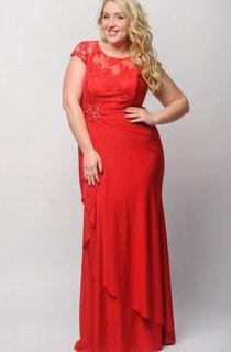 Sheath Floor-Length Jewel Short Sleeve Jersey Pleats Appliques Zipper Dress