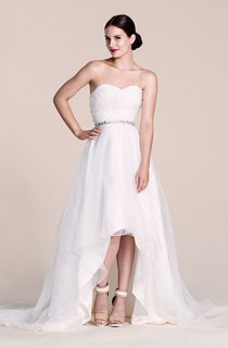 Sweetheart High-low Gown With Beaded Waist
