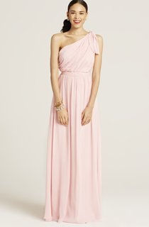 One-Shoulder Stylish Dress With Ruching Detail