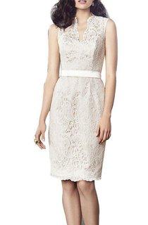 Sleeveless Sheath Lace Knee-length Dress