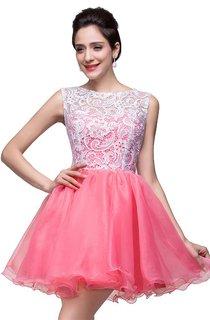 Lovely Sleeveless Lace Homecoming Dress Short 2016