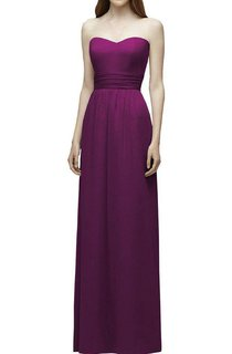 Strapless Ruched Floor-length Bridesmaid Dress