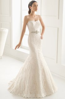 Gorgeous Mermaid Strapless Dress With Beaded Sash