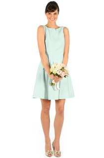 Sleeveless Short A-Line Magnificent Dress With Low-V Back