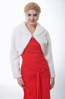 Long Sleeve Faux Fur Bridal Jacket
