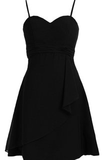 Sleeveless A-line Mini Dress With Spaghetti Straps