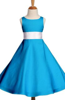Sleeveless Scoop-neck A-line Dress With Bow
