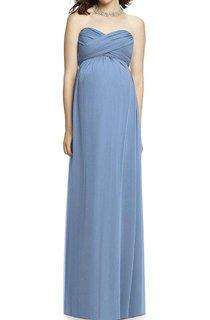 Maternity Sweetheart Criss-cross Empire Chiffon Dress