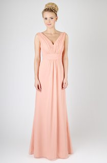 A-Line Graceful Long Dress With Deep-V Back