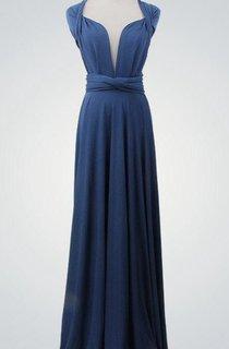 Cap Sleeve V Neck A-line Pleated Chiffon Long Dress With Bandage