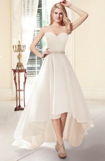 Sweetheart A-line High-Low Wedding Dress