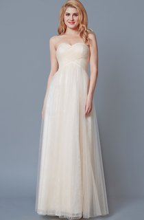 Sweetheart Empire Waist A-line Tulle Dress With Lace Liner