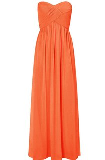 Strapless Sweetheart Criss-cross Chiffon A-line Gown