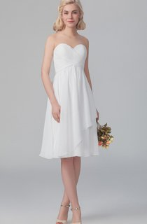 Sweet Layered Short Dress With Ruched Bodice