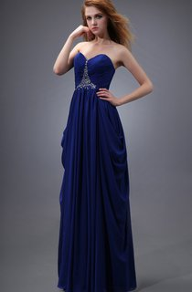 Sweetheart Pleating Dress With Beading and Ruching
