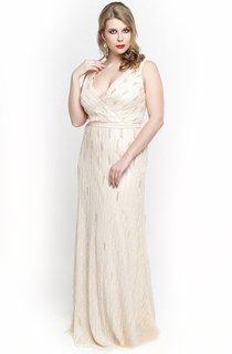 White V Neck Empire Sheath Chiffon Long Dress With V Back