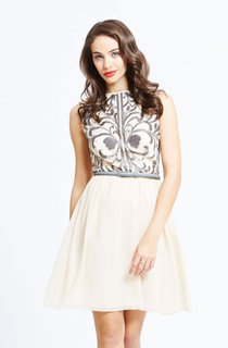 Tank Cool Short Dress With Belt And Embroidery