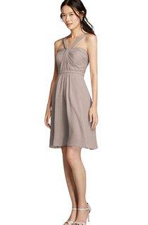 Sleeveless A-line Short Mini Chiffon Dress