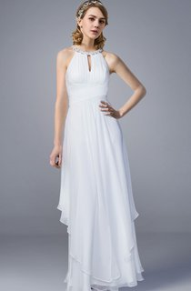 Halter Style Chiffon Long Wedding Dress