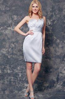 One Shoulder Ruched Short Satin Dress