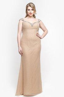 Sweetheart Cap Sleeve Sheath Chiffon Long Dress With Beadings