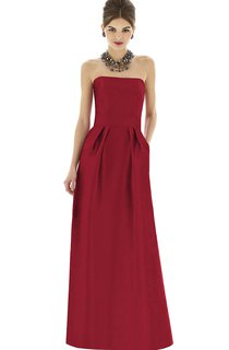 Strapless Floor-Length Simple Dress With Zipper Back