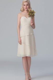 Chiffon Layered Sweetheart Formal Short Asymmetric Dress