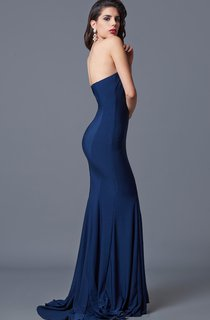 Sexy Sweetheart Mermaid Jersey Gown With Pleats