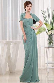 Strapless Chiffon Maxi Dress With Bolero and Ruching