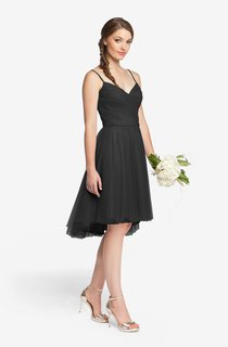 Elegant Sleeveless Criss Cross Ruched Short Tulle Dress With Spaghetti Straps