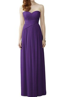 Sweetheart Ruched Bodice Chiffon Bridesmaid Dress