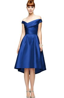Knee-Length Chiarming Satin A-Line Dress