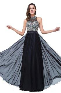 Newest High Neck Crystals 2016 Prom Dress A-line Zipper