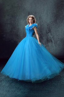 Ball Gown Maxi Sweetheart Sleeveless Bell Ruffles Corset Back Tulle Lace Organza Dress